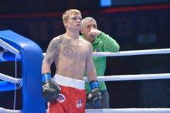 Evaldas Petrauskas on the ring Stock Photography