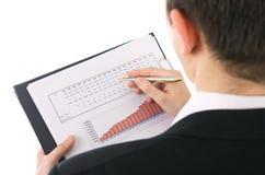 Evaluación de la renta Imagen de archivo libre de regalías