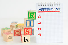 Evaluación de riesgos o plan de gestión Fotografía de archivo
