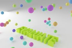 Evaluate, business conceptual colorful 3D rendered words. Title, style, backdrop & message. Evaluate, business conceptual colorful 3D rendered words. Good for royalty free illustration