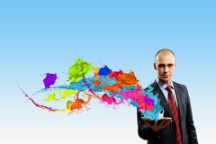 Evaluate color expression Stock Image
