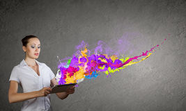 Evaluate color expression Royalty Free Stock Photos