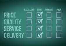 Evaluate customer survey form illustration. Design over a white background Royalty Free Stock Photo