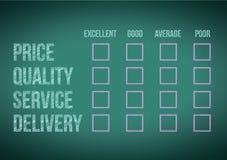 Evaluate customer survey form illustration design. Over a white background Stock Photos