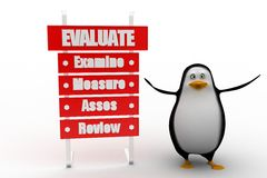 Evaluate examine measure asses review Stock Photo