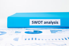 Evaluate and planning projects with SWOT analysis and business g Stock Photos