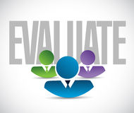 Evaluate team sign illustration design graphic Stock Photography