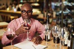 Evaluatie van wijn Royalty-vrije Stock Afbeeldingen
