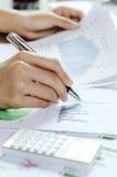 Evaluating data Stock Photos