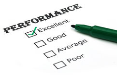 Evaluating performance Stock Images