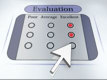Evaluation. Voting concept. Mouse arrow. High resolution image Stock Photos