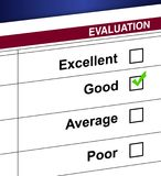 Evaluation. List and check box illustration design Stock Photography