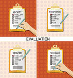 Evaluation approve quality check Stock Images