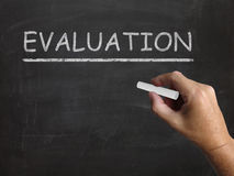 Evaluation Blackboard Means Judgement. Evaluation Blackboard Meaning Judgement Interpretation And Opinion Stock Images