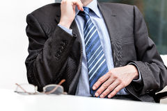 The evaluation of the boss Stock Photo