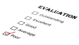 Evaluation check box Royalty Free Stock Photography