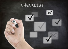 Evaluation checklist board Royalty Free Stock Photography