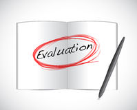 Evaluation circle book sign illustration design Royalty Free Stock Photography