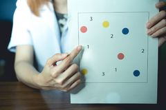 Neuropsychological testing for dementia. The evaluation of cognitive function nneuropsychological test for dementia Royalty Free Stock Image