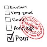 evaluation failed poor Στοκ Φωτογραφία
