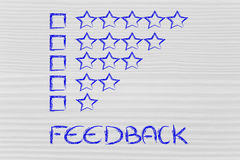 Evaluation and feedback Royalty Free Stock Photo