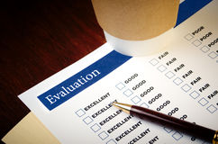 Evaluation form Royalty Free Stock Photography