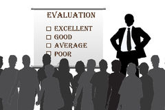 Evaluation. Human resources manager check  evaluation form report card Royalty Free Stock Images