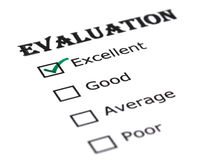 Evaluation paper Royalty Free Stock Images