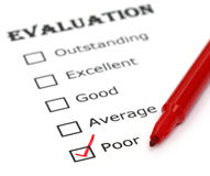 Evaluation paper Royalty Free Stock Photography