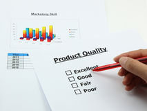 Evaluation of product Royalty Free Stock Photography