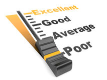 Evaluation rate - excellent - poor. Stock Photography