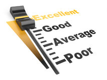 Evaluation rate - excellent - poor. Royalty Free Stock Images
