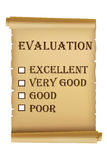 An evaluation report card Royalty Free Stock Images