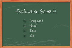 Evaluation score Stock Photography
