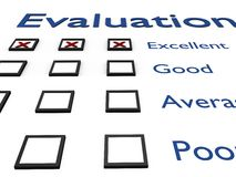 Evaluation sheet Stock Photo