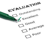 Evaluation sheet Royalty Free Stock Image