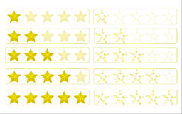 Evaluation stars Royalty Free Stock Images