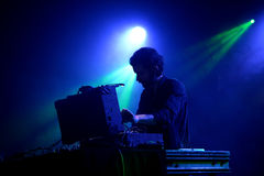 Evan Caminiti DJ and producer performs at Primavera Club 2015 Festival. BARCELONA - OCT 24: Evan Caminiti DJ and producer performs at Primavera Club 2015 stock image
