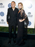 Evan Ross and Ashlee Simpson Royalty Free Stock Photography