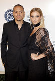 Evan Ross and Ashlee Simpson Stock Image