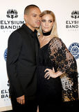 Evan Ross and Ashlee Simpson Stock Images