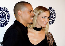 Evan Ross and Ashlee Simpson Stock Photography