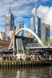 The Evan Walker Bridge in Melbourne Royalty Free Stock Photo