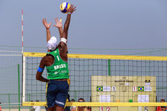 evandro,beach volleyball player of brazilian team Royalty Free Stock Images