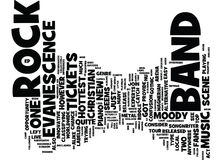 Evanescence Tickets Catch The Hottest New Band On The Music Scene Text Background Word Cloud Concept Stock Photography