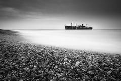 EvangeEvangelia est naufragé qui a échoué sur la Mer Noire lia photo stock