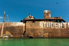 Evangelia Shipwreck Blisko Czarnej morze plaży Zdjęcie Stock