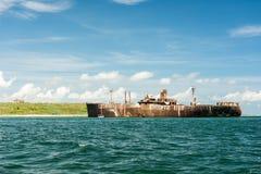 Evangelia skeppsbrott nära den Black Sea stranden Arkivbilder