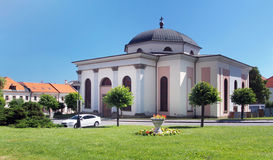 Evangelic church in medieval Levoca Royalty Free Stock Photos