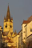 The Evangelic Church Sibiu Stock Photography